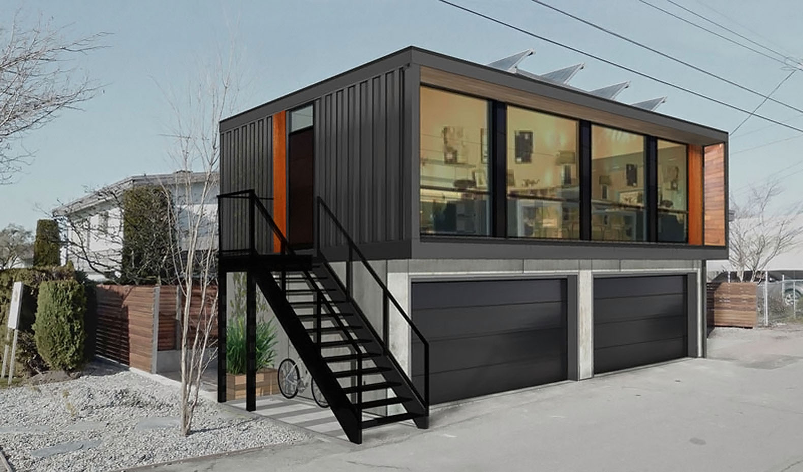 cargo crate homes low cost shipping container homes conex house shipping container home. Black Bedroom Furniture Sets. Home Design Ideas
